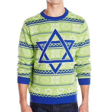 Hanukkah Time Star of David UNISEX Sweater