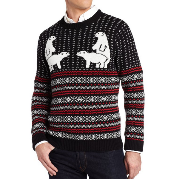 Twinning Polar Bear Fair Isle UNISEX Sweater