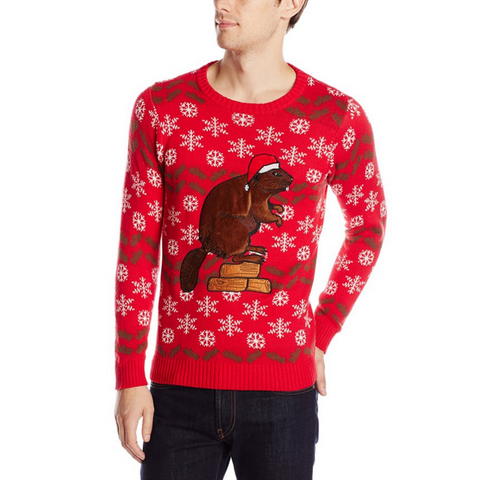 The Christmas Beaver UNISEX Sweater
