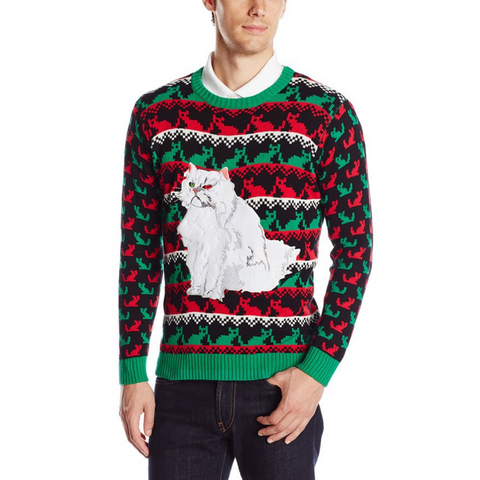 Crackers the Christmas Cat UNISEX Sweater