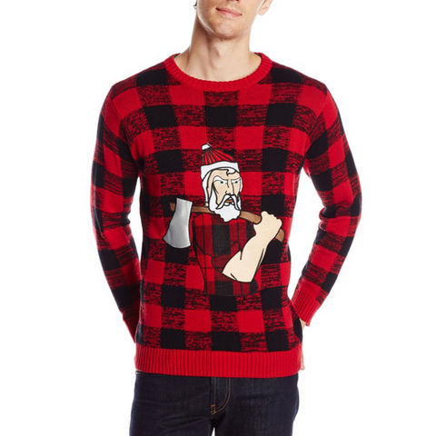 Santa the Hipster Lumberjack UNISEX Sweater