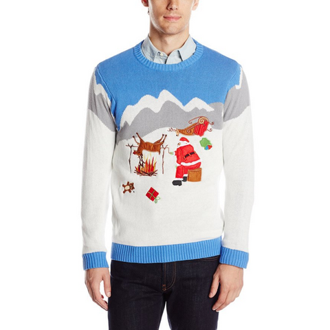 Reindeer Roasting On an Open Fire UNISEX Sweater