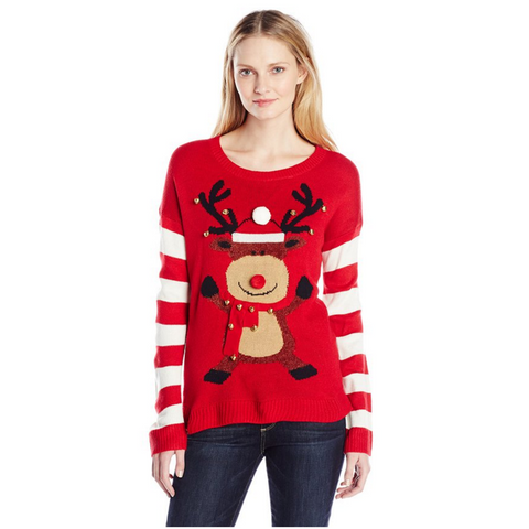 Women's Rudolph Jumping and Jingling Sweater