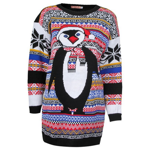 Women's Fair Isle Penguin UNISEX Sweater