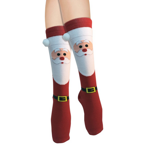 Women's Santa Claus Pom Pom Socks