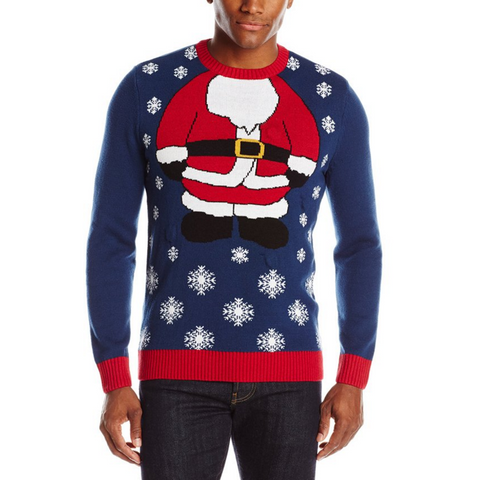 Blinking Santa UNISEX Ugly Christmas Sweater