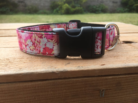 Liberty Print Dog Collar - Pink Floral