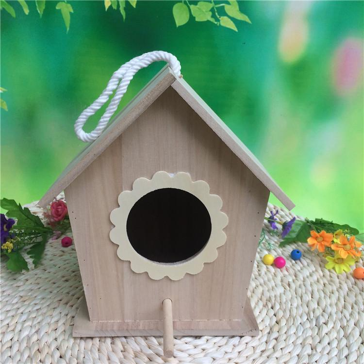 1- Birdhouse Wood Parrot breeding box sparrow Peony Bird Xuan Feng Bird nest outdoor eaves Wooden Bird House