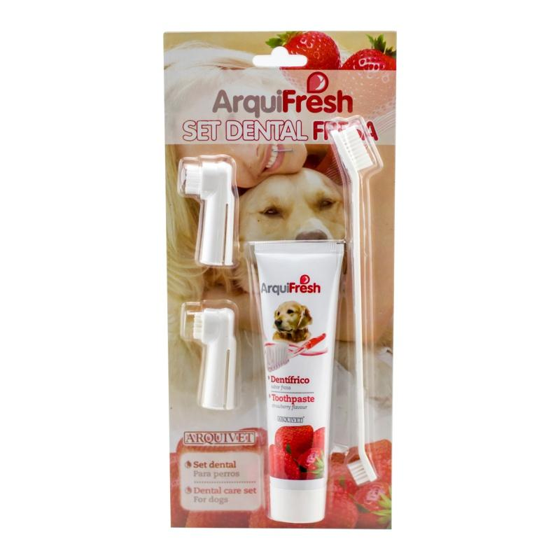 1 Dog Toothpaste Toothbrush Set Mint Strawberry Clean The Mouth Remove Odor Good Habit Pet Cleaning Supplies