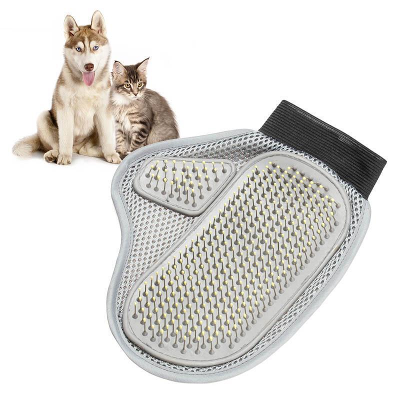 1 PC Hot Selling  Comfortable Pet Animal Grooming Glove Dog & Cat Comb Brush for Medium to Long Hair