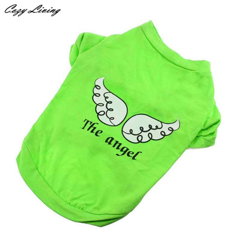 1 PC Pet Clothes For Small Dogs Cats XS-L Dog Pet Spring Summer The Angel Vest Sleeveless T-Shirts Clothes Wholesale D19