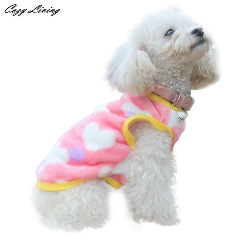 1 PC Pet Clothes Winter XS-XL Fashion Pet Cat Dog Villus Clothes Winter Leopard Pet Vest Clothing Fleece Puppy Pet Dogs D19