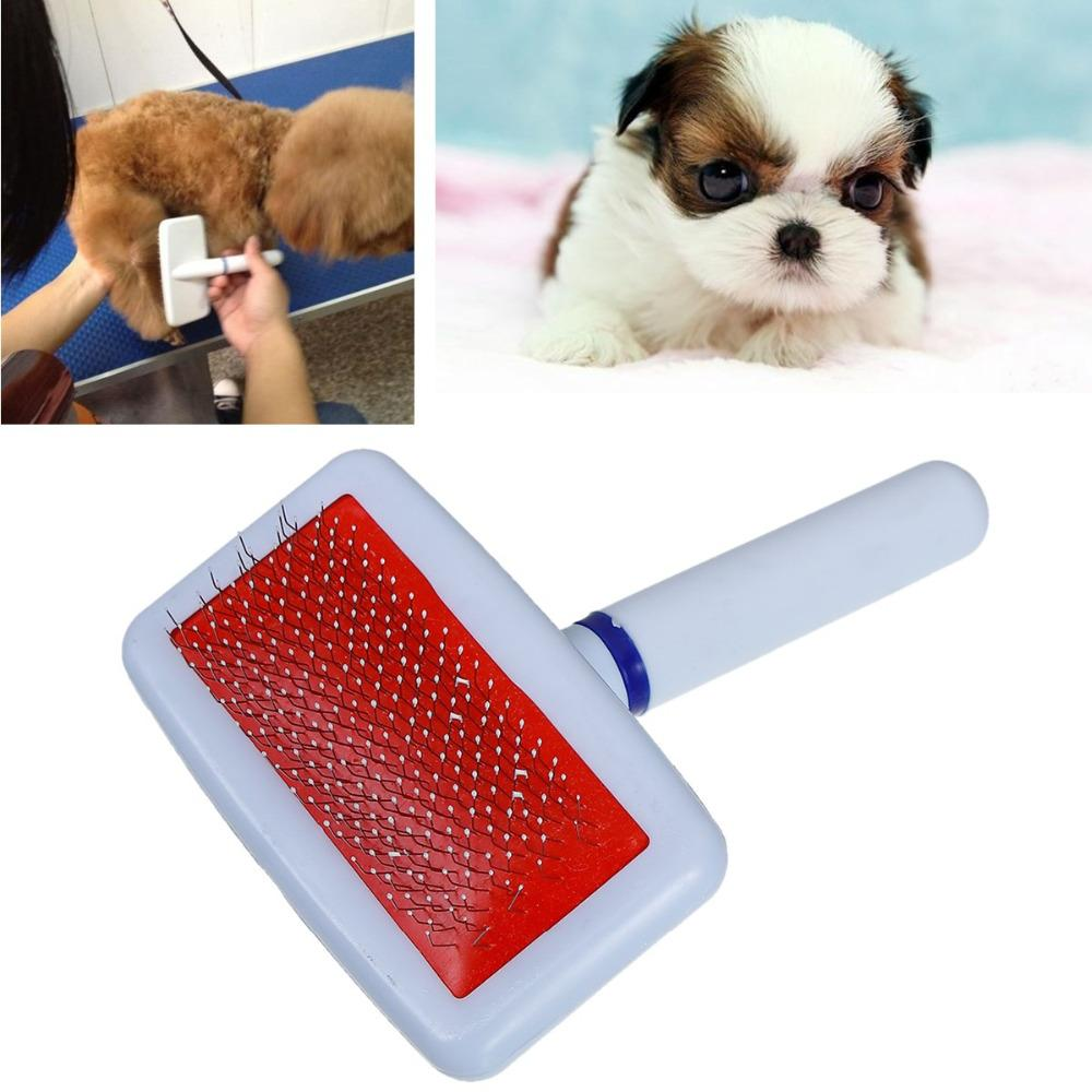 1 PC Plastic Pet Dog Grooming Cat Grooming Hair Fur Rake Needle Comb for Dog Puppy Cat Brush Tool White Pet Products 13.5x10cm