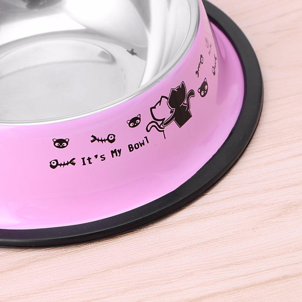 1 PC Stainless Steel Pet Feeding Bowl Dog Feeders Bowl Anti Skid Pet Dog Cat Food Water Dish Bowl Feeding Feeder Tool