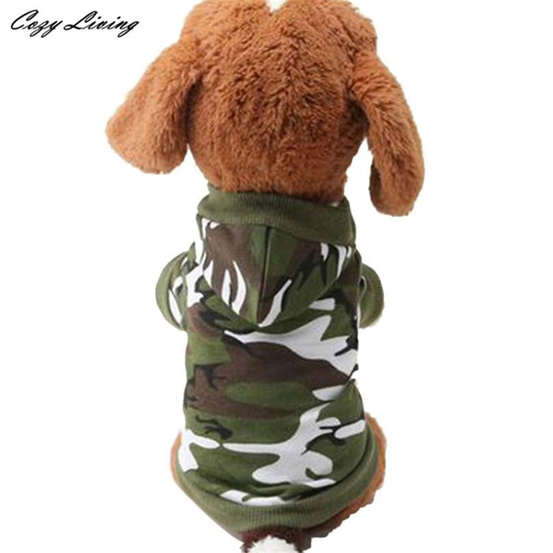 1 PC XS,S,M,L Dog Clothing Pet Sweatshirt Camo Camouflage Coats Hoodies Costume Dogs Clothes Coat For Small Medium Dogs D19