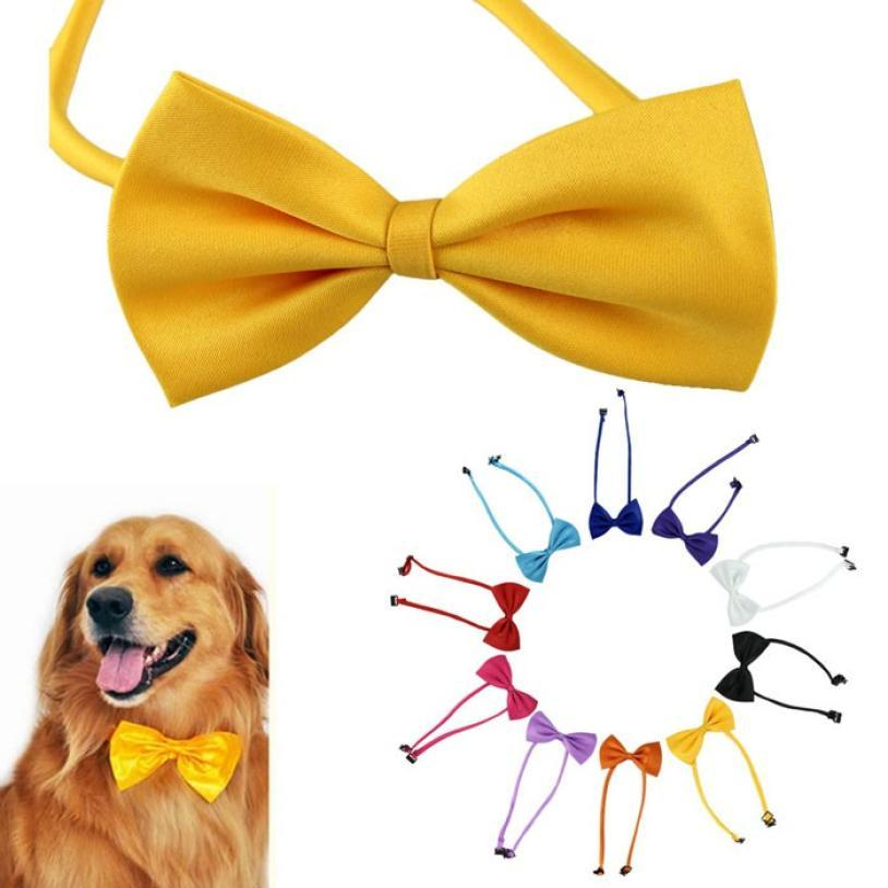1 PCS Multicolor Pet Dog Neck Tie High Quality Bow Tie Dog Accessories 10 Clrs Grooming Supplies Collier Pour Chien Dog Collar
