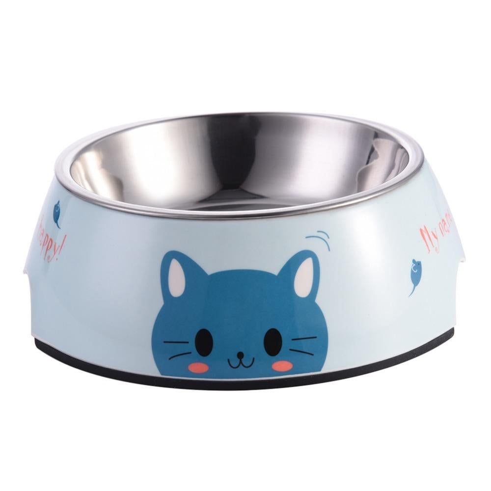 1 PCS Stainless Steel Dog Feeders Pet Feeding Bowl Multiple Sizes Cat Food Water Bowl Water Food Dish Pet Storage S/M/L Non-slip