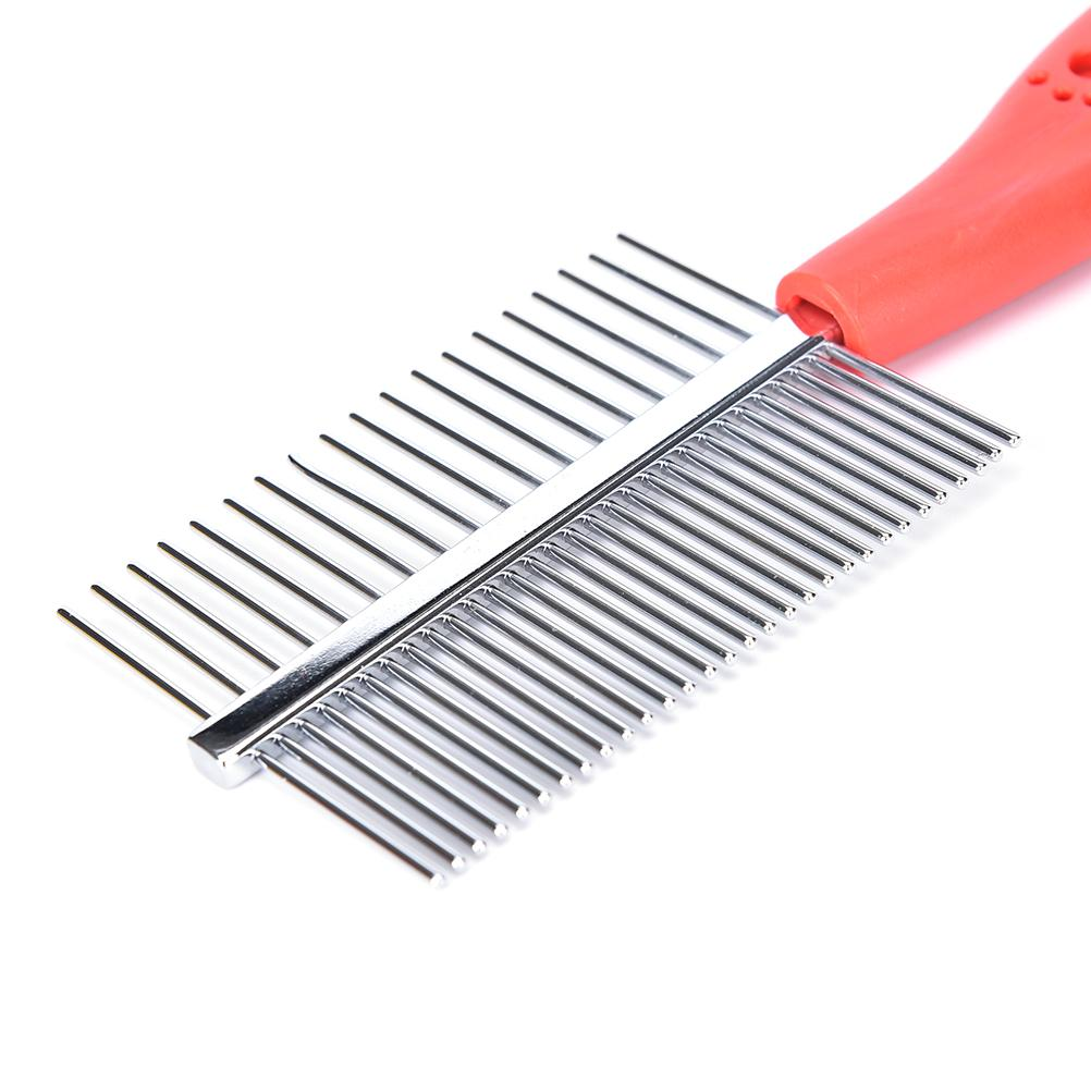 1 PCS Two-sized Dense Comb For Dogs Tooth Slicker Brush Pet Grooming Tools Stainless Steel Anti-static Pets Hair Grooming Comb