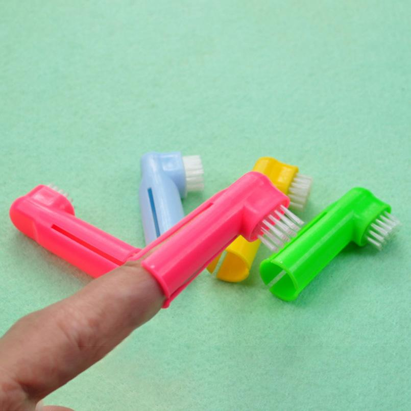 1 Pcs Super Soft Pet Finger Toothbrush Teddy Dog Brush Addition Bad Breath Tartar Teeth Care Dog Cat Cleaning Supplies