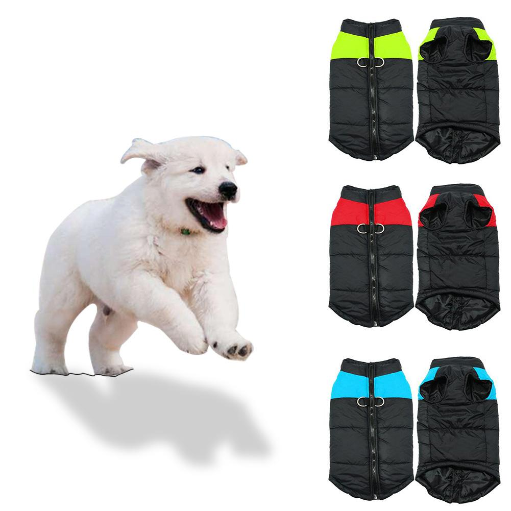 1 Pcs  Warm Dog Clothes Waterproof Pet Puppy dog vest Winter Jacket Coat For Small Medium Large dog shirt roupa para cachorro DA