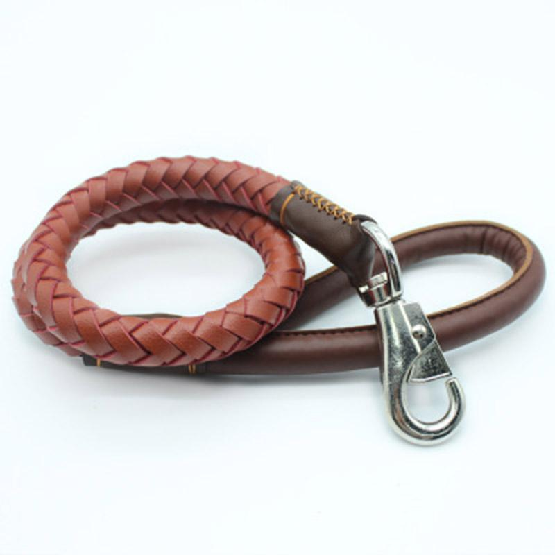 1*Piece 94 cm High Quality Comfortable PU Leather dogs Traction Rope Dog Leads Dog Supplies Basic Leashes