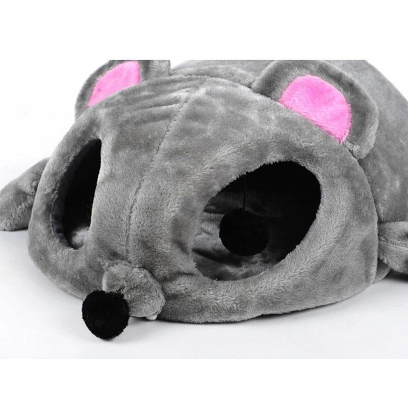 1 Piece Cartoon Mouse Shape Cat's House Autumn Winter Dog House Windproof Pet Bed Warm Sofas Pet Nest Cat Tunnel Bed Hondenmand