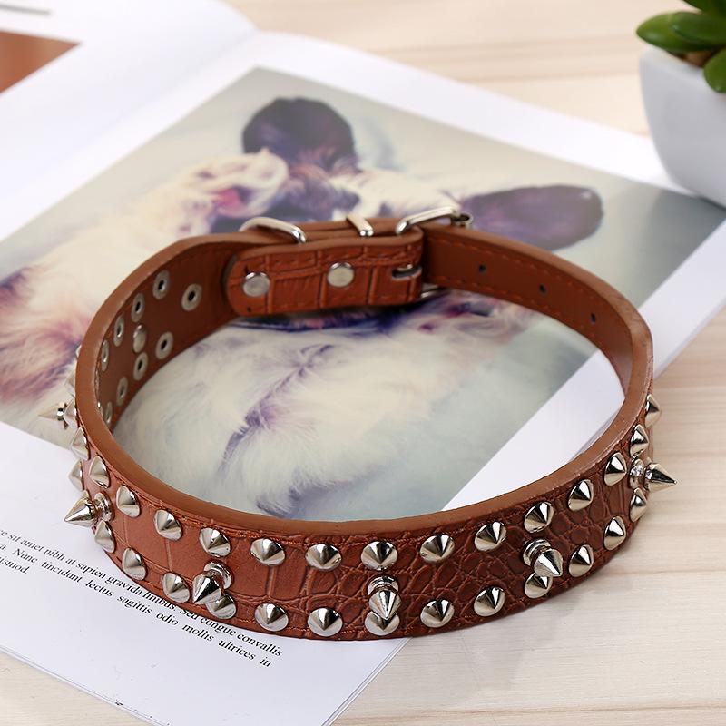 1 Piece Durable Comfortable Pet Dog Collar Rivets Decoration Cool Dog Supplies for Medium Large Dog