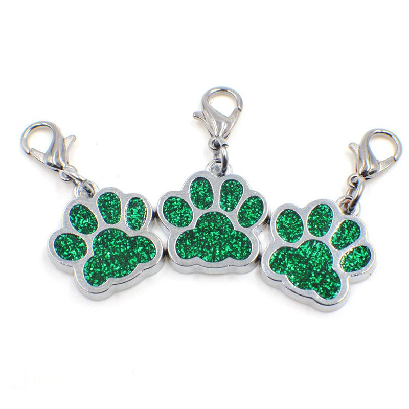 1 Piece Footprint Shape Pet Dog Collar Decoration High Quality Durable Small Puppy Dog Supplies Pendant