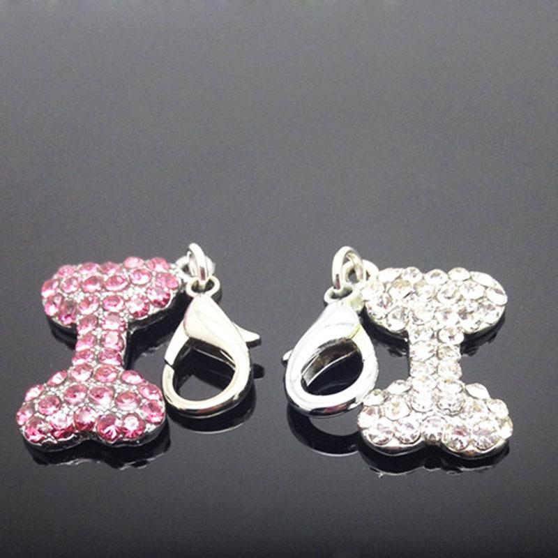 1 Piece High Quality Pet Dog Rhinestone Pendant Durable Lovely Pet Dog Decoration Supplies Collar Pendant