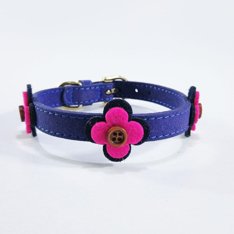 1 Piece PU Durable Pet Dog Collar Puppy Small Dog Supplies High Quality Rhinestone Decoration