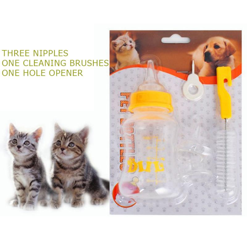 1 Piece Pets Milk Feeding Bottles Puppy Kittens 80ml/150ml Transparent Plastic Feeders Milk Bottle