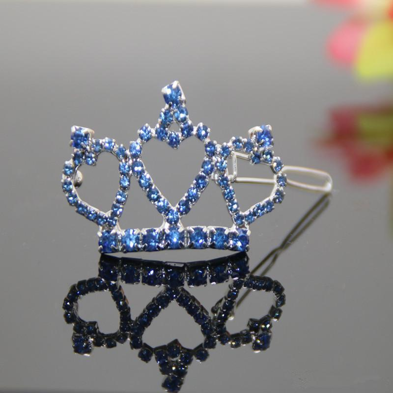 1 Piece Rhinestone crown tiara Hair Decoration Pet Dog Hair Supplies High Quality Lovely Pet Dog Hairpin Clips