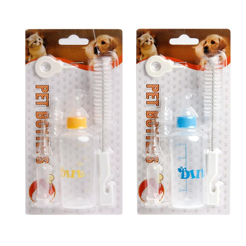 1 Set Dog Feeders Supplies Feeding Nursing Bottle Nipple Brush Kit For Pet Dog Puppy Cat Kitten Pet Supplies