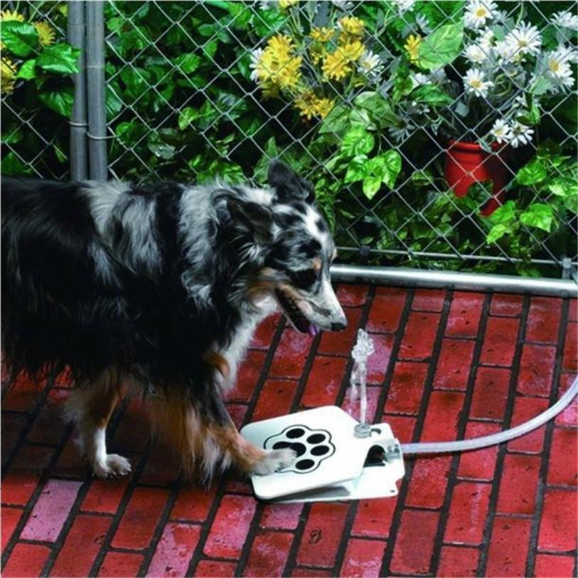 1 Set Durable Pet Dog Cat Water Feeding Drinking Dispenser Trouble-Free Outdoor Water Fountain & User Manual Wholesale 20JE1