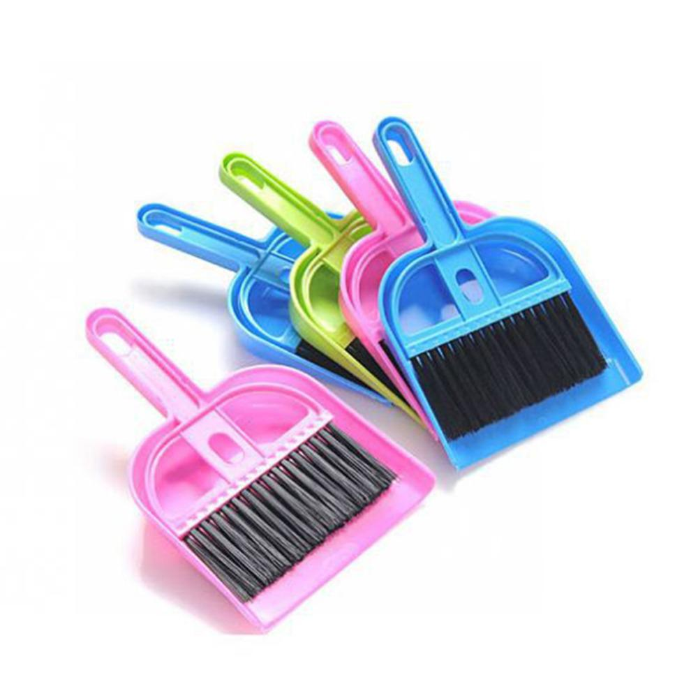 1 Set New Pets Cleaning Supplies Plastic Broom Set Mini Dustpan and Broom Sweeping Dog House Tool Cleaning