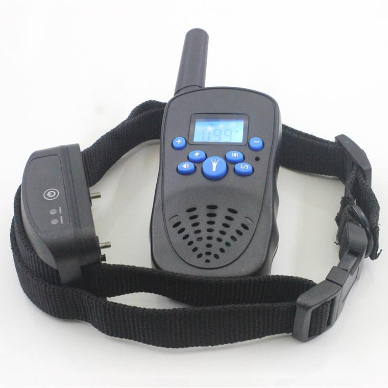 1 Set Waterproof LCD 300 Yard Shock Vibra Remote Dog Training Collar Pets Dogs Training Collars Device