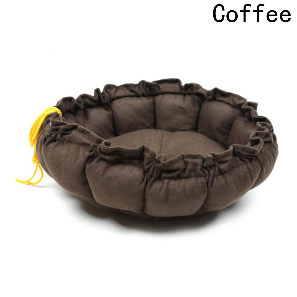 1 Pc Cute Soft Cat Bed Winter House Warm Cotton For Dog Cat Pet Products Mini Puppy Pet Dog Bed Soft Comfortable Pumpkin Nest