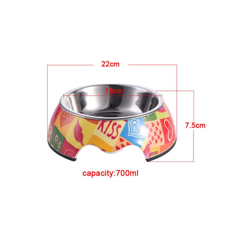 1 pc Non-slip Dog Feeders Stainless Steel Pet Feeding Bowl Multiple Sizes Cat Food Water Bowl Water Food Dish Pet Storage S/M/L
