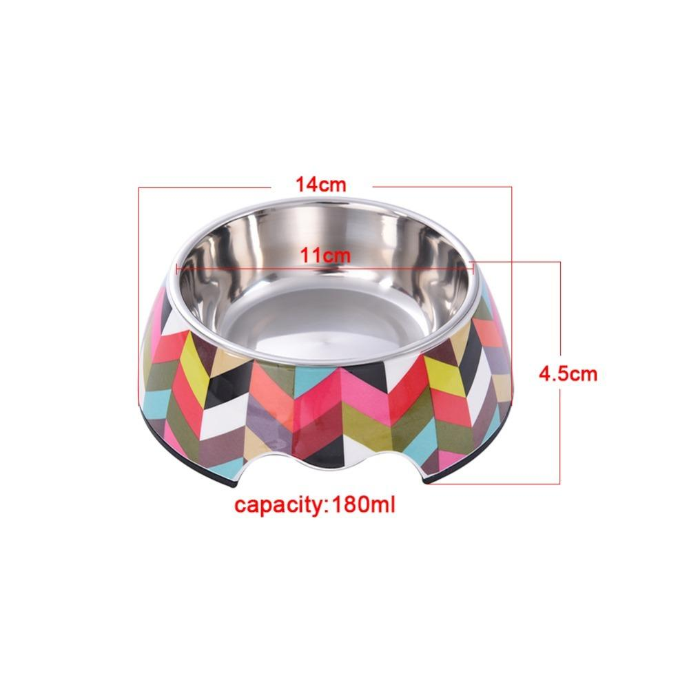 1 pc Pet Feeding Bowl Non-slip Stainless Steel Dog Feeders Multiple Sizes Cat Food Water Bowl Water Food Dish Pet Storage S/M/L