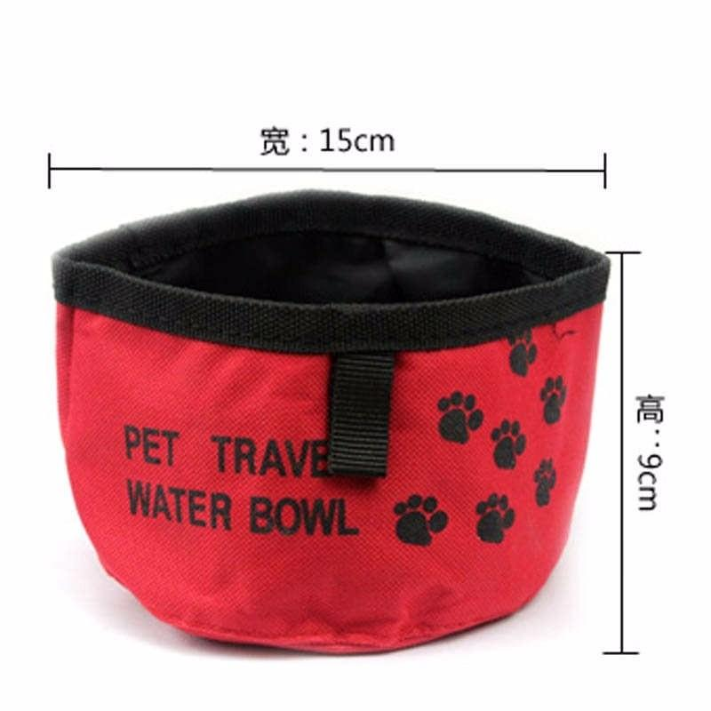 1 pc Pet Food Bag Outdoor Traveling Dog Cat Water Dish Portable Collapsible Food Dish Bowl Waterproof Cloth Folding Feeding Bowl