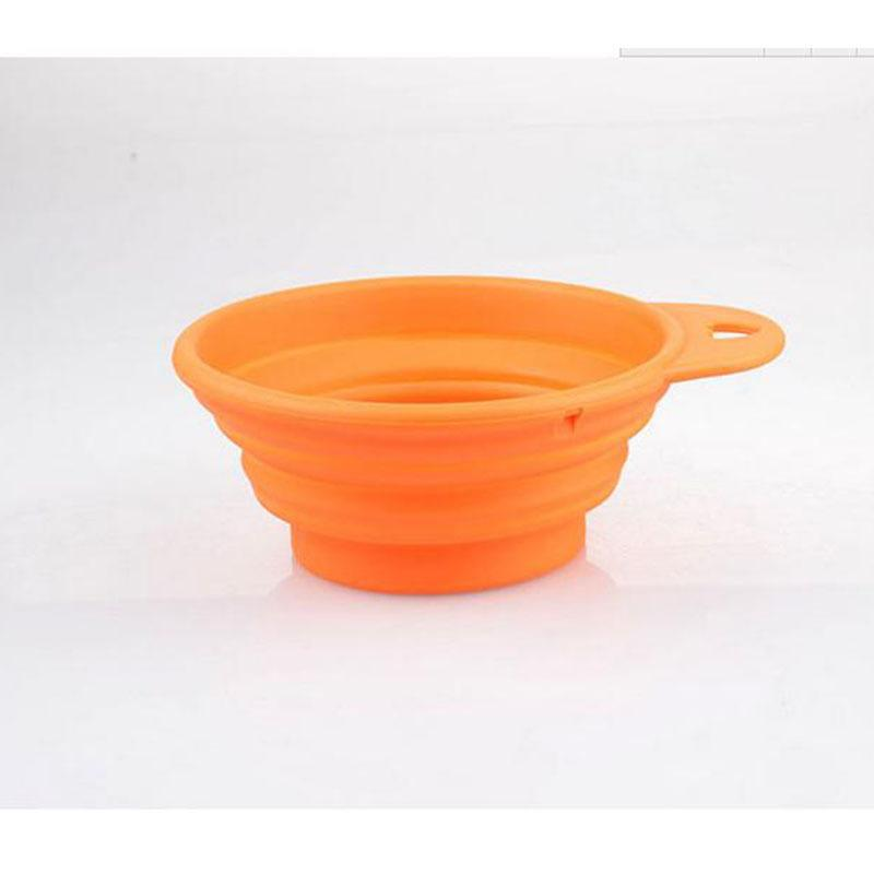 1 pcs High quality Nice Dog Portable Silicone Collapsible Travel Feeding Bowl Water Dish Feeder New