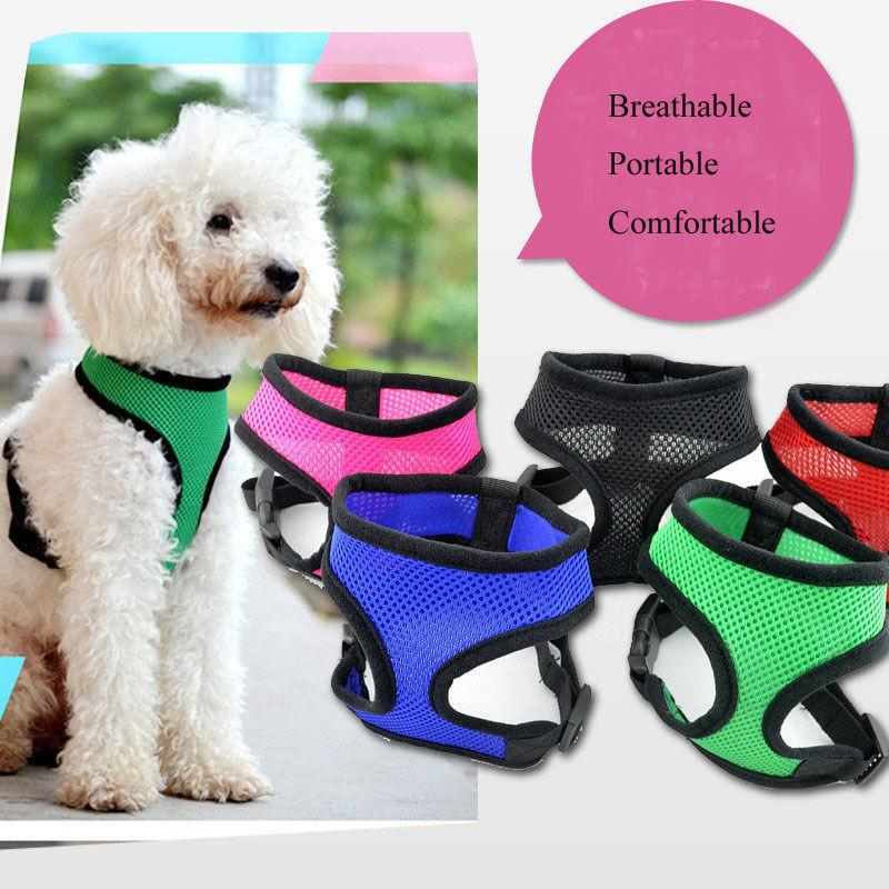 1 pcs Soft Mesh Nylon Pet Puppy Control Harness Walk Collar Safety Strap Dog Cat Vest Fashion Comfort Dog Clothes