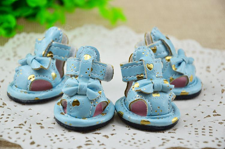 1 set= 4pcs Pet Shoes Dog Products Pet Dog Shoes Pet sandals In Purple/Orange/Blue dog shoes