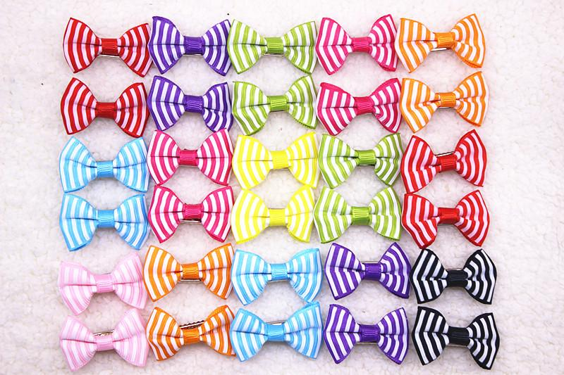10/20/30pcs New 20 Styles Pet Dog Grooming Accessories Products Hand-made Small Dog Hair Bows Cat Hair Clips Boutique Wholesale