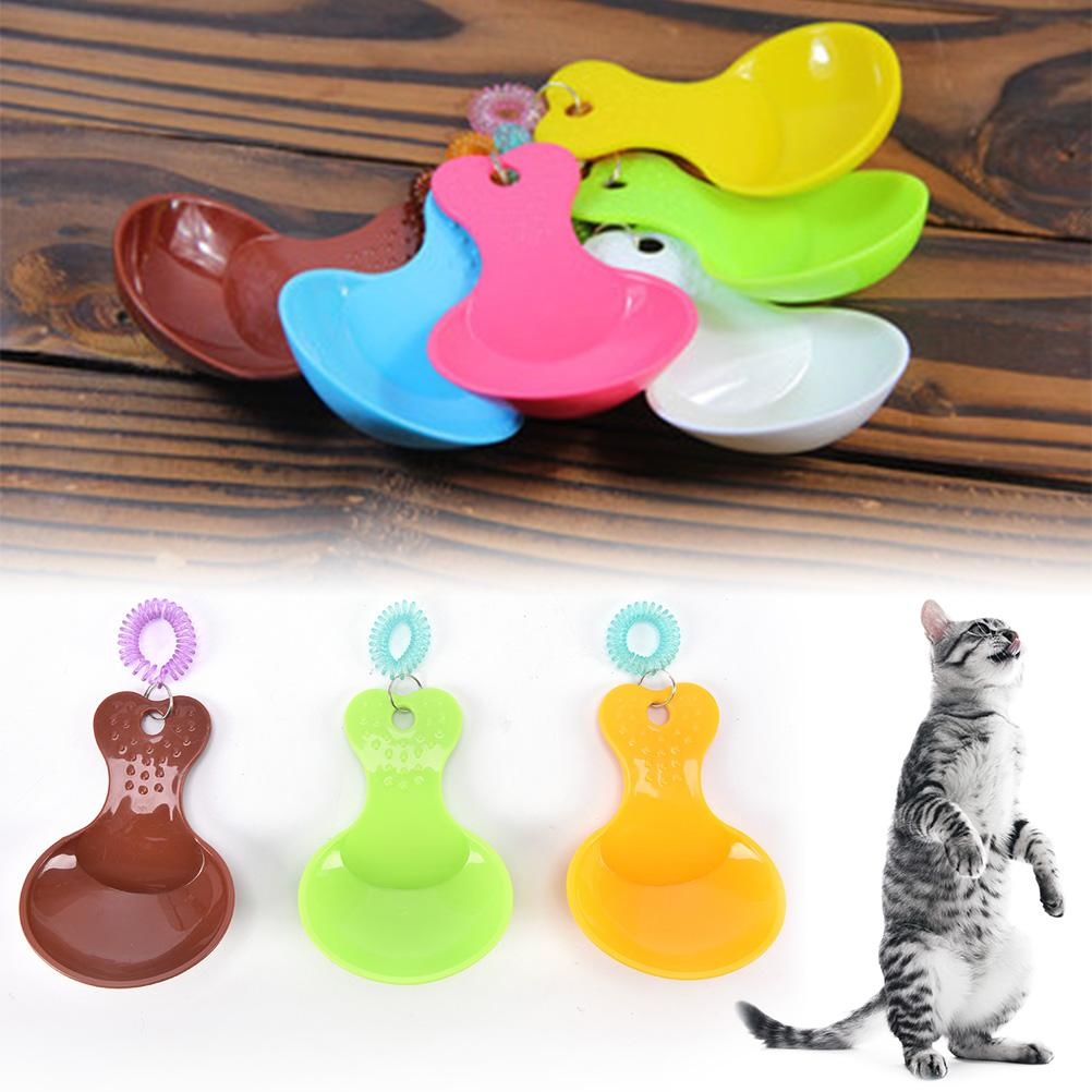 10.5*7.5cm Cat Food Bowl Spoon  Plastic Candy Color Dog Food Spoon Dog Food Shovel Spoon 1pcs