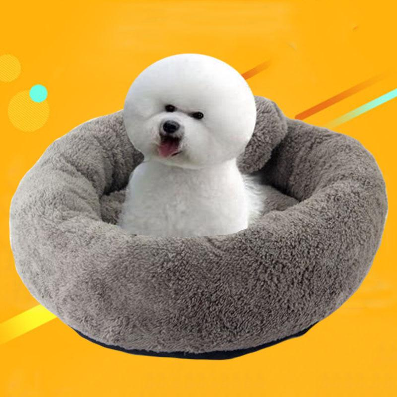 10 Colors Round Soft Warm Dog House Bed With Random color Pillow pet Nest Kennel For Cat Puppy Plus size Pets Products ZL364