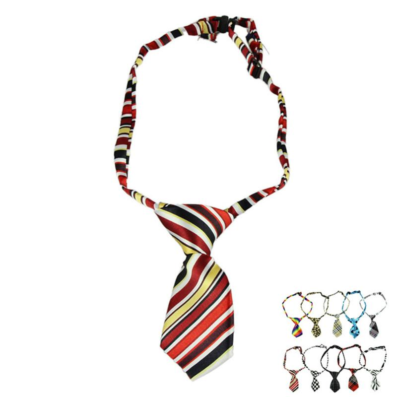 10 Pcs/Lot Colorful Polyester Silk Pet Dog Tie Random Lovely Dog Adjustable Necktie Dog Dress up customeAccessories supply