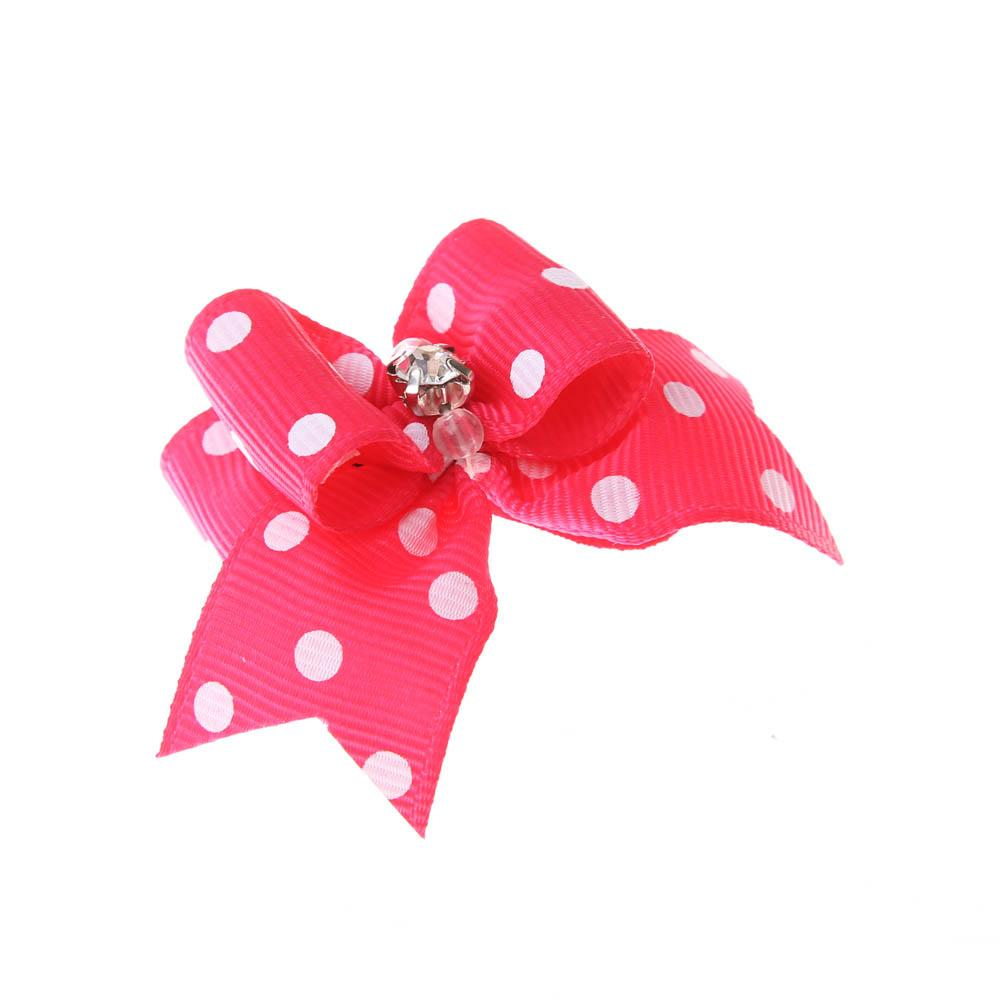 10 Pcs Tartan Design Dog Hair Bow Pet Dog Bows With Pearl Cute Rubber Band Hairpin Grooming Accessories