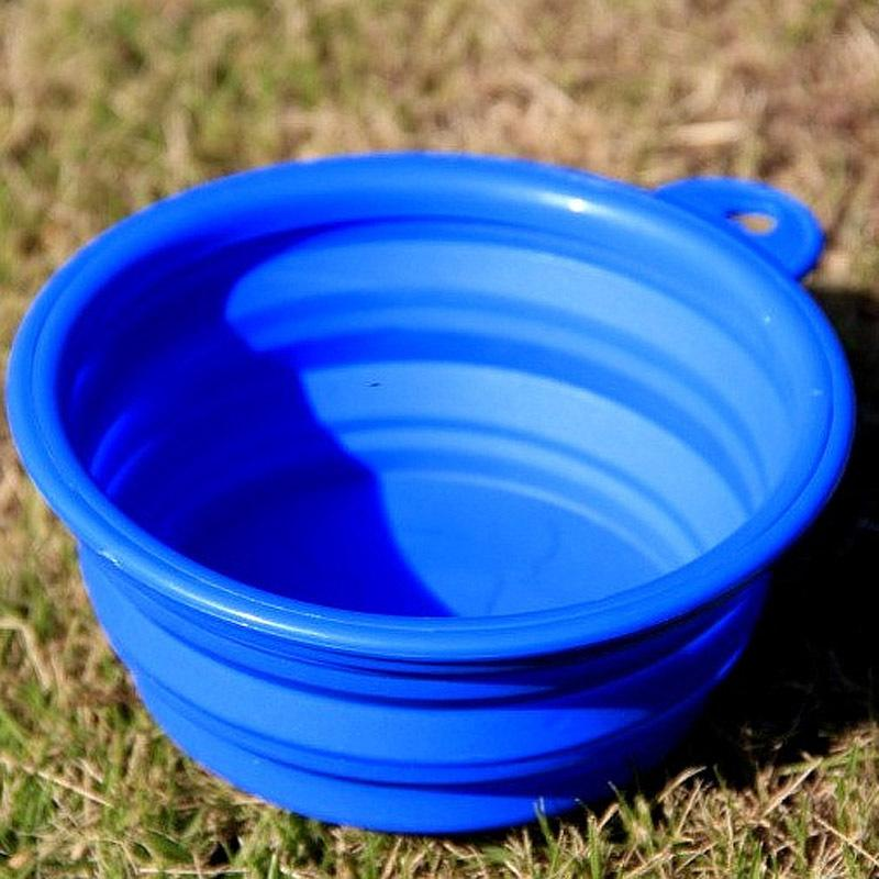 10 pcs Dog Cat Pet Puppy Portable Silicone Collapsible Water Bowl Travel Drink Feeder
