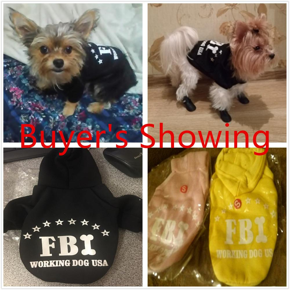 100% Cotton Small Pet Dog FBI Printed Hoodies Coat Sweater For Puppy Cat Coat  Autumn Winter Costume Apperal Coat Top Quality